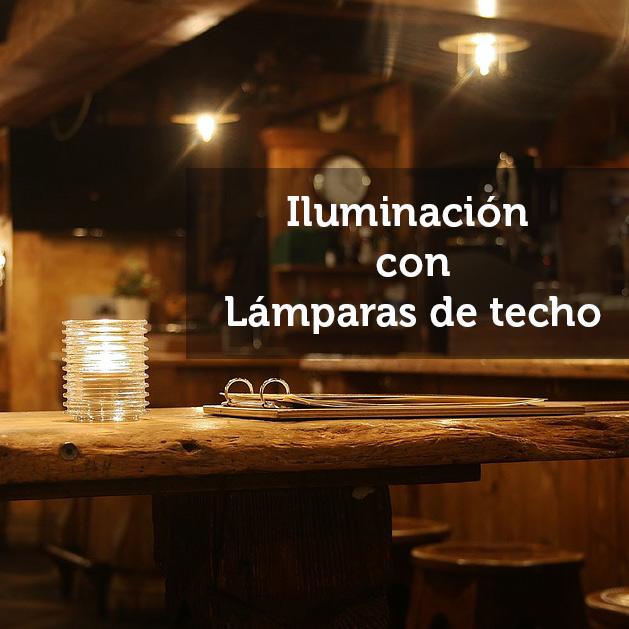 Cómo iluminar con lámparas de techo